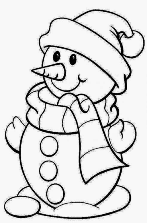 Christmas Coloring Pages Snowman   AZ Coloring Pages