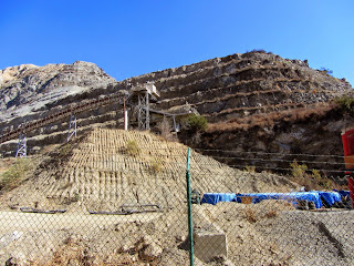 View of east wall along Fish Canyon access trail in Vulcan Materials' Azusa Rock quarry