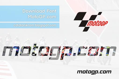Catatan Ikrom Download Font MotoGP.com