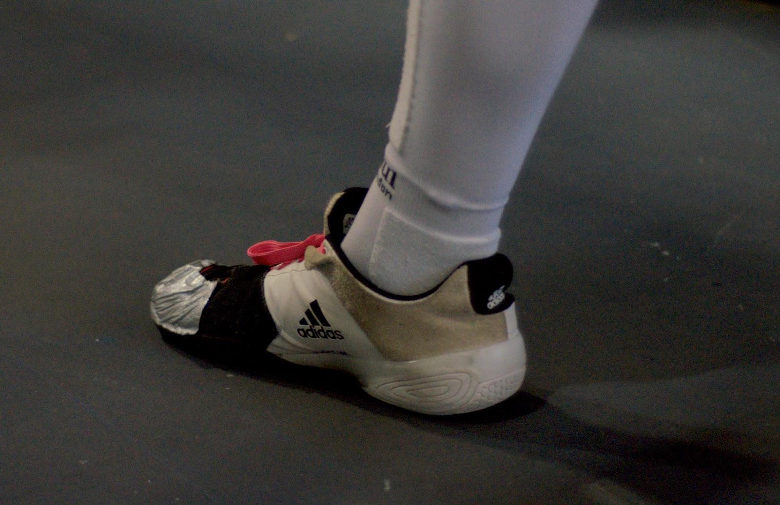 Fencing Shoes Adidas Adipower Black White