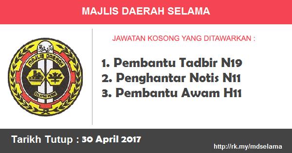 Jawatan Kosong di Majlis Daerah Selama
