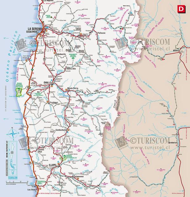 Mapas da região de La serena – Chile