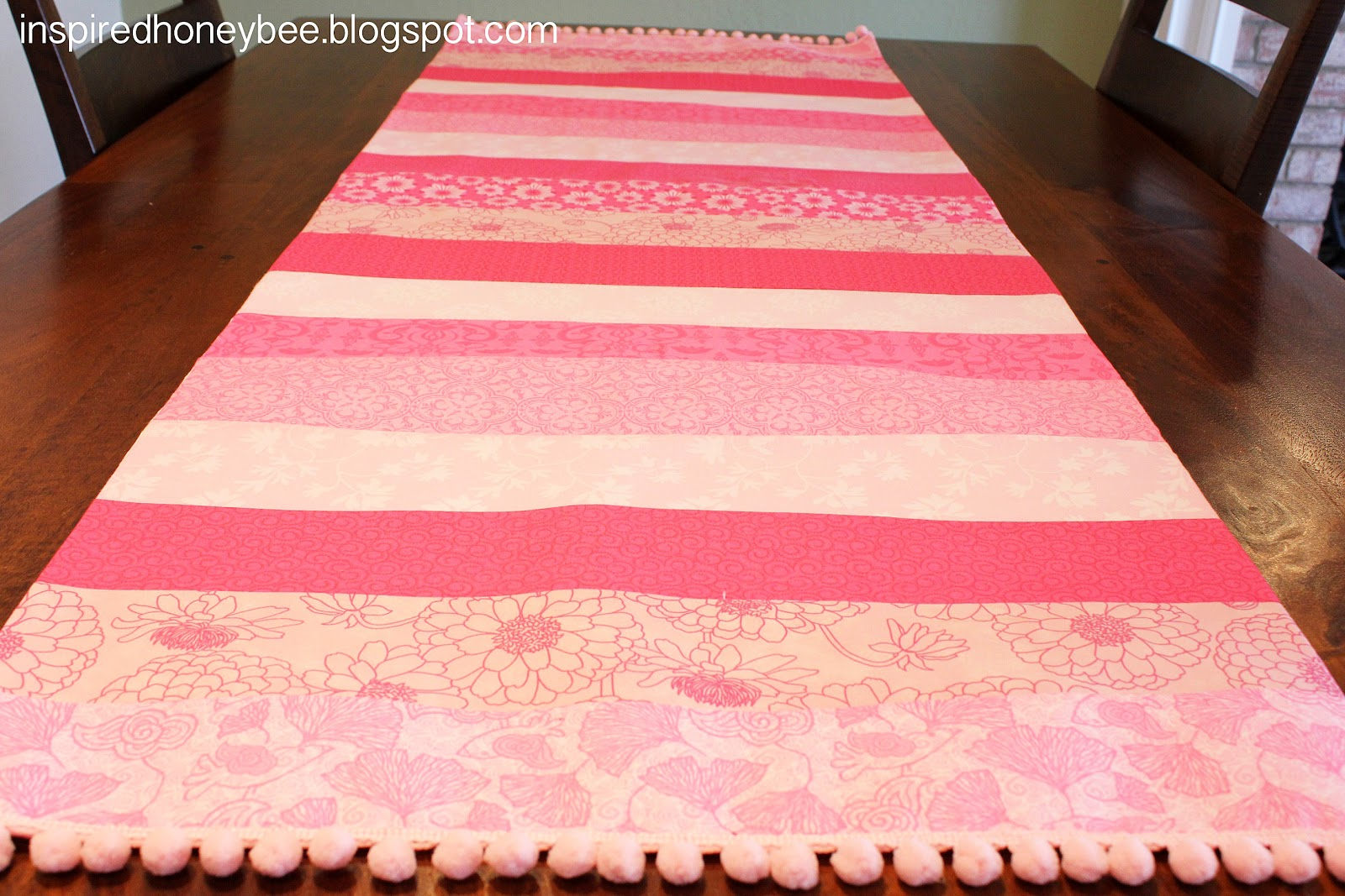 Inspired Honey Bee Sew Bright Striped Valentine S Day Table Runner