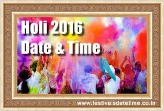 Holi Festival 2016 Date and Time in India