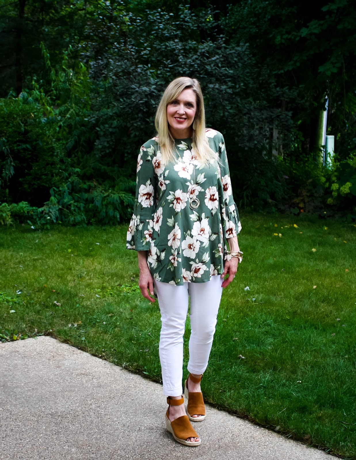 Fall Staple: Olive Floral Tunic