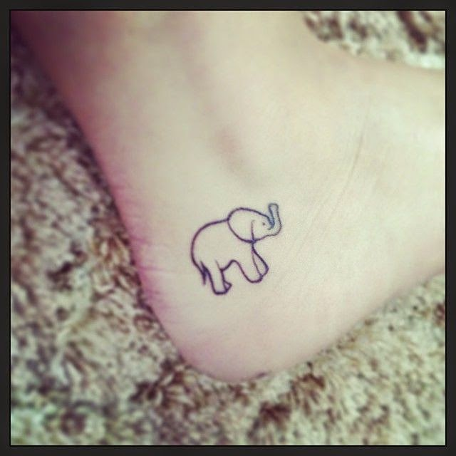 10 Cute Elephant Tattoos Designs ~ CataNiceGirl