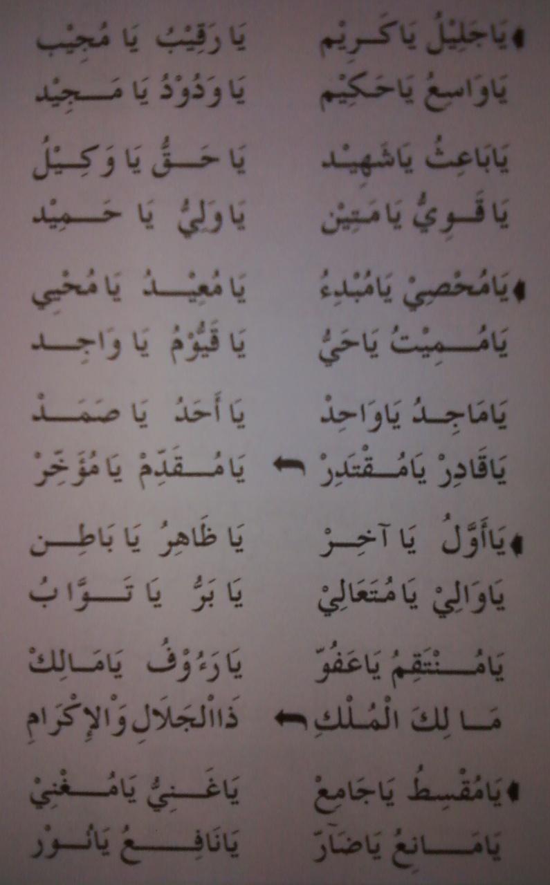 Doa Asmaul Husna Al Habib Novel Bin Muhammad Alaydrus