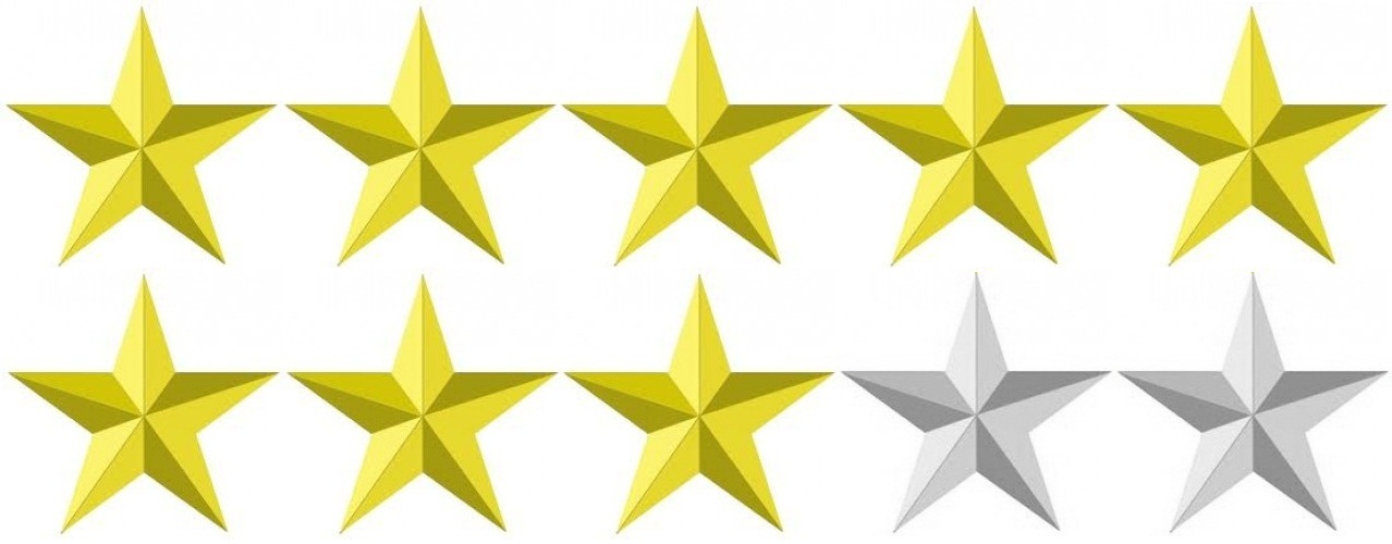 Image result for 8 stars out of 10
