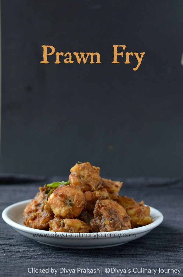 Prawn Fry, South Indian style Prawn Fry