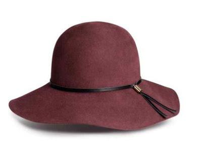kapelusz bordo