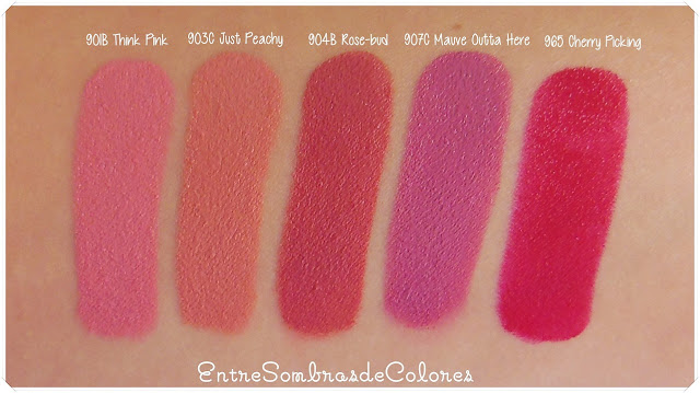 swatches labiales MegaLast Wet n Wild