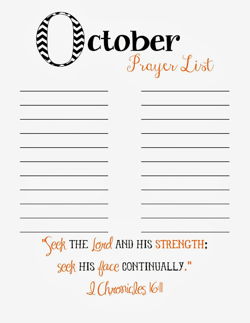graphic relating to Printable Prayer List referred to as Doodles Sches: Prayer Record Printable - Oct