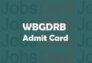 WBGDRB Admit Card 2017