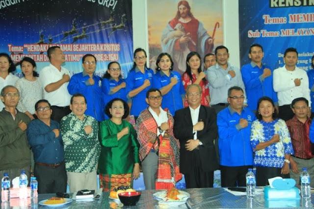 PilGubsu 2018: Ephorus HKI dan Bishop GKPI Berangkatkan JR Saragih