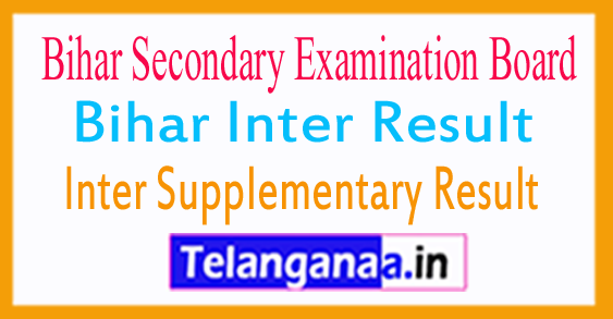 Bihar Inter Supplementary Result 2018