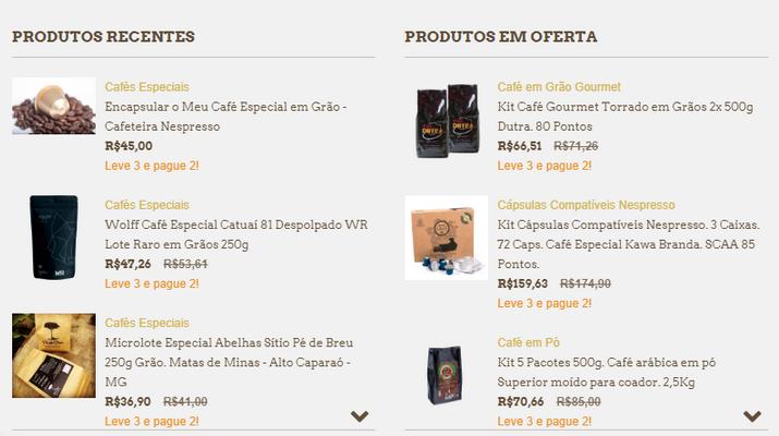 comprar cafés especiais