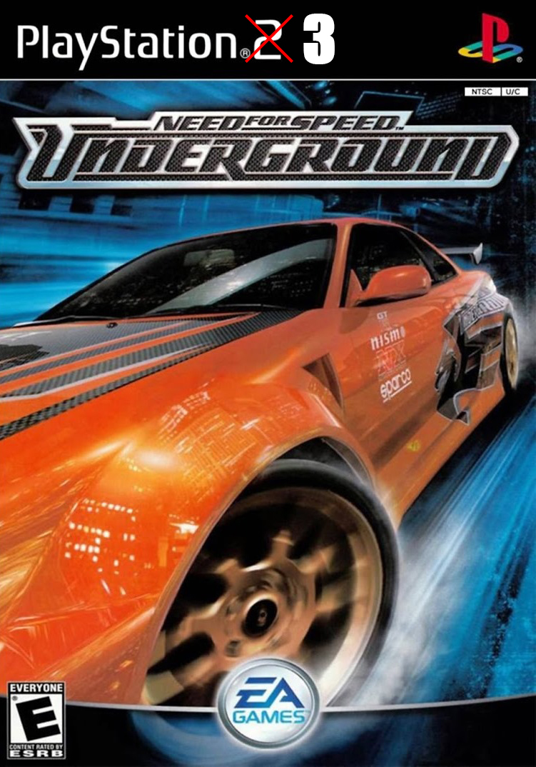 ps3 need for speed underground pkg. Black Bedroom Furniture Sets. Home Design Ideas