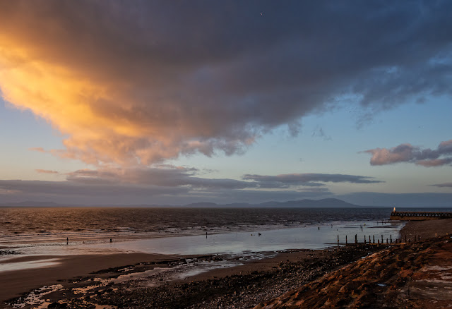 Photo of another view of the sunset on Maryport beach