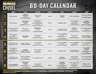 hammer and chisel calendar, hammer and chisel schedule, hammer and chisel rest day