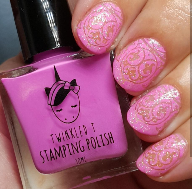 twinkled t, stamping, polish, nails,