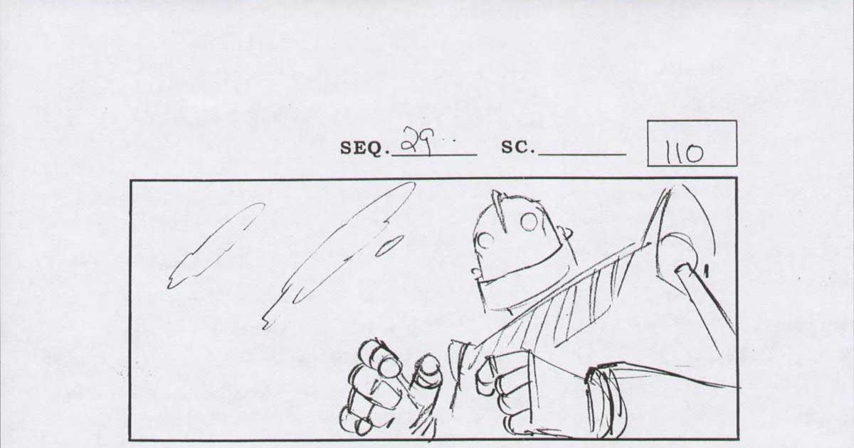 Cartoon Concept Design: Iron Giant Storyboards