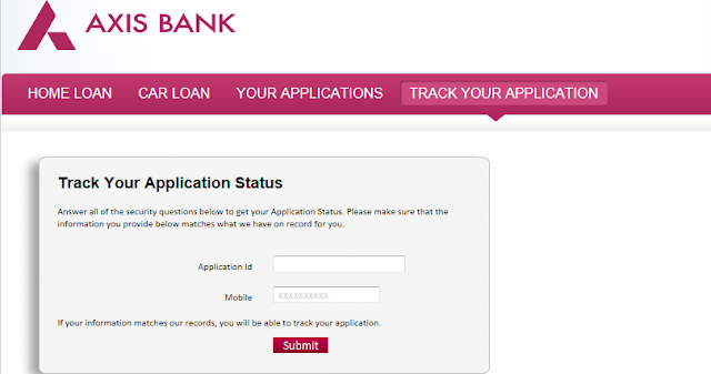 Track Status - check your applications,courier ,Payment/Tax status and Track Job opening : AXIS ...
