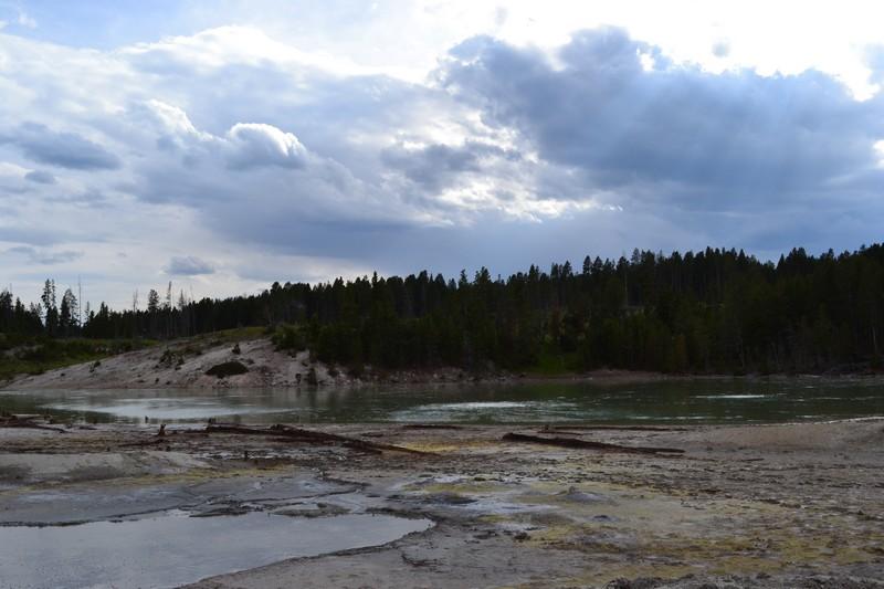 Yellowstone, Wyoming, usa, parc, mud volcano