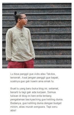 Ulasan menarik terkait blog traveling terbaik,terhadap travel blogger indonesia terkenal,yaitu whatever i'm backpacker,yg bisa dijadiin referensi travel blogger