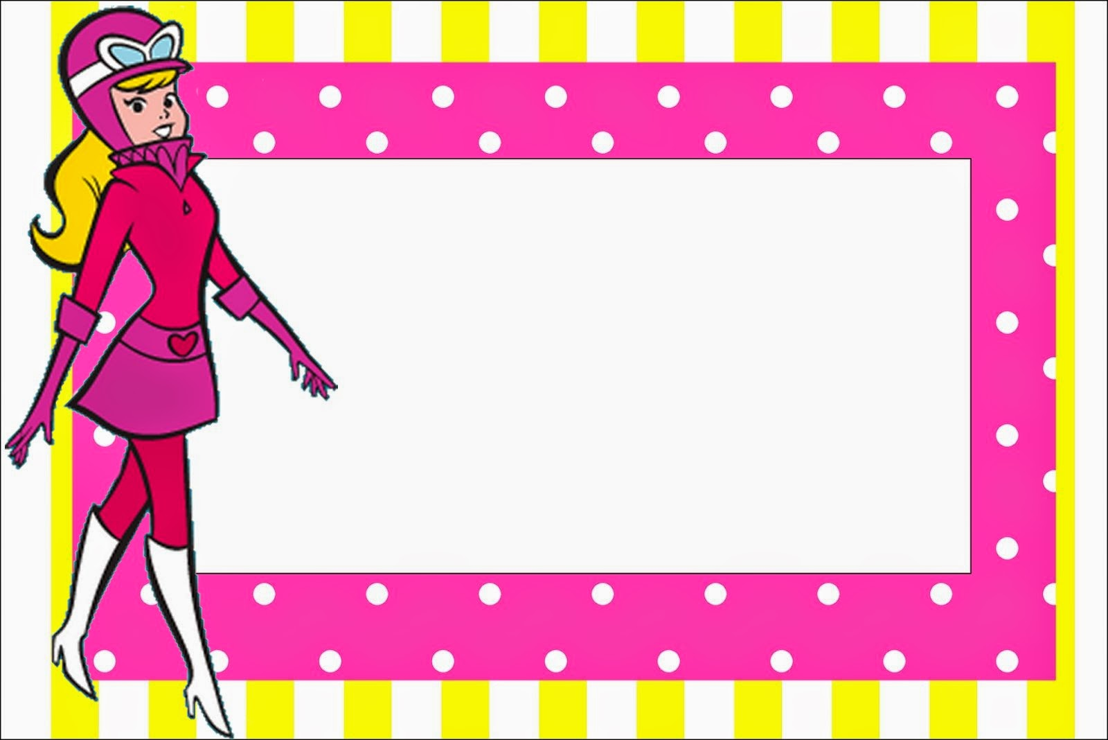Para hacer invitaciones, tarjetas, marcos de fotos o etiquetas, para imprimir gratis de Penelope Glamour Retro.
