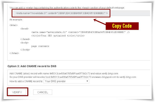Cara Daftar & Verifikasi Blog Ke Bing Webmaster Tools