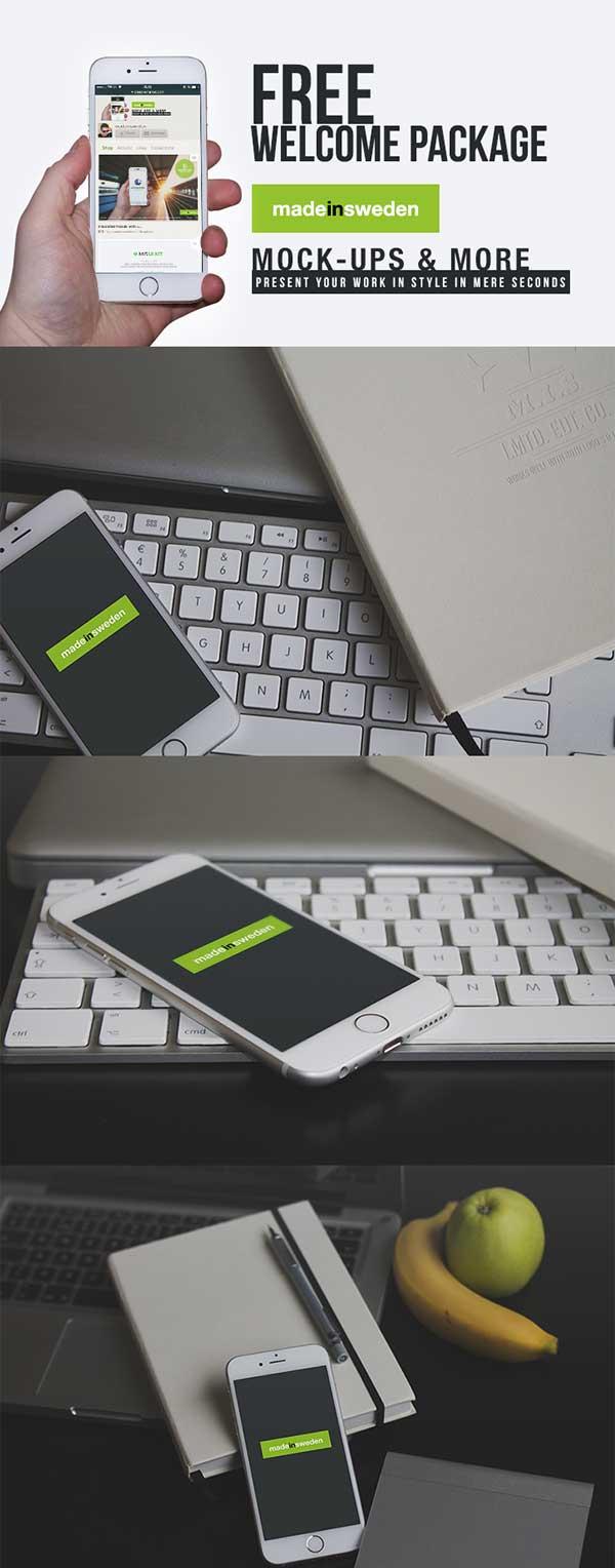 7 Free iPhone 6 Mock-Ups PSD