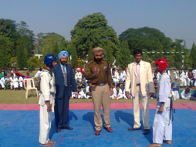 15th Punjab State Taekwondo C'ship, Inauguration by Chief Guest S. Inder Mohan Singh, SSP District SAS Nagar, Mohali, Championship, Golden Bells Public School, Chandigarh, India, Grand Master Er. Satpal Singh Rehal, with Lt. Col. CS Bawa, Kanwaljit Singh walia, Vishnu Sharma, Ribben Cuttting, Martial Arts, Mix, Self-defence, Karate, Fitness, Clubs, Academy, Association, Federation, National, Training, Classes, World, Kot Maira, Garhshankar, Hoshiarpur,