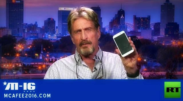 John McAfee revela cómo puede Hackear un iPhone o cualquier ordenador en 30 minutos