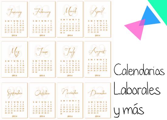 para Imprimir Calendarios Laborales, Compactos, Individuales para el