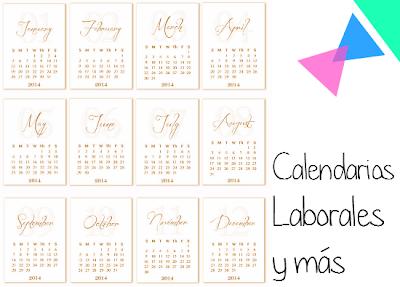Plantillas para Imprimir Calendarios