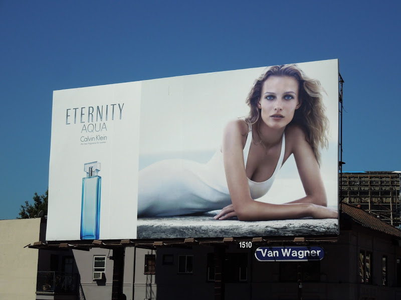 CK Eternity Aqua fragrance billboard