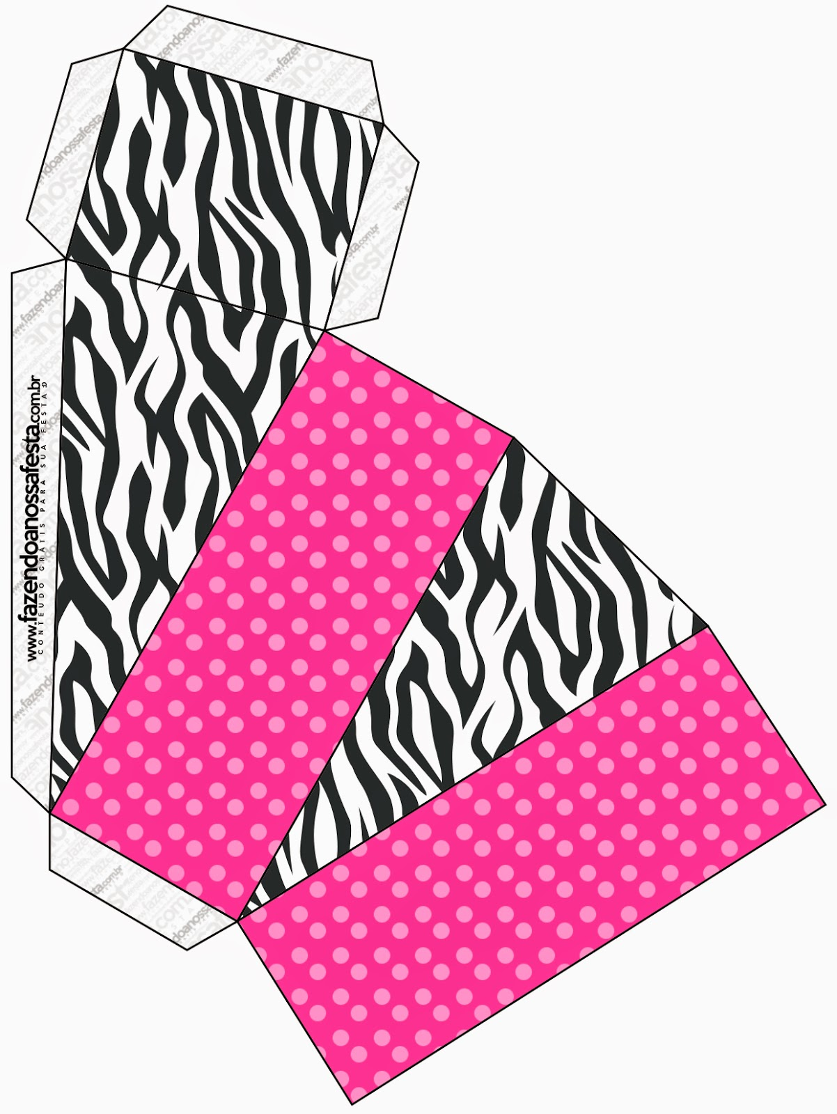 This one is for pie box in Zebra and Pink.