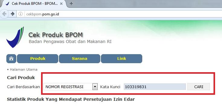 Cek BPOM Online
