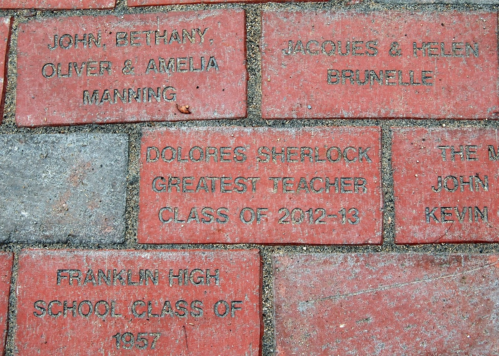 some of the bricks
