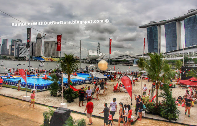 Urban beach and pool, DBS Marina Regatta 2015, Singapore