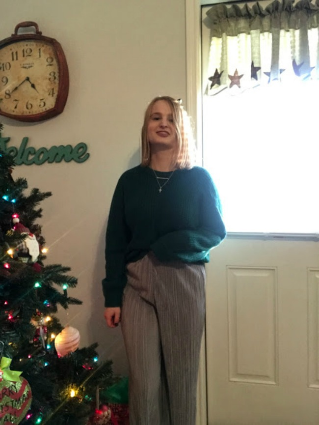 Sweater & Metallic Culottes