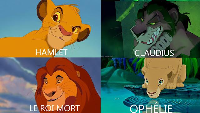Le Roi Lion et Hamlet : correspondance des personnages