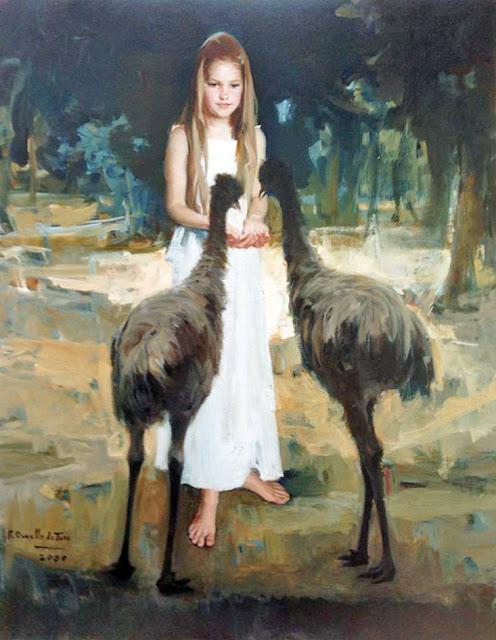 Retrato de Yasmin, Félix Revello de Toro, Retratos de Revello de Toro, Pintor españo