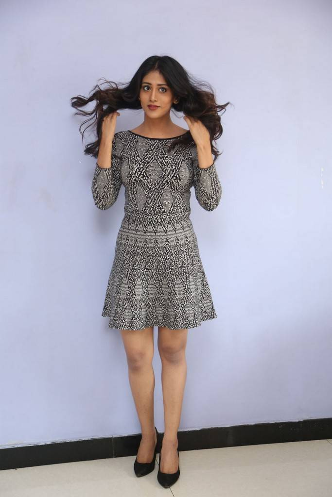 Chandini Chowdary Long Legs Thighs Stills In Min Black Skirt