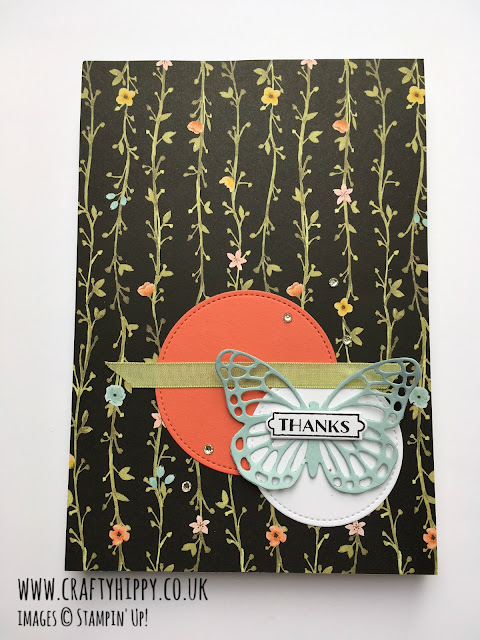 Cover an old - or new! - flat notebook with Designer Series Paper from Stampin' Up! to create a gorgeous gift.