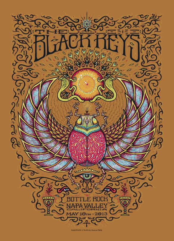 Inside The Rock Poster Frame Blog Marq Spusta The Black Crowes Black Keys And Soungarden Poster Sale Details