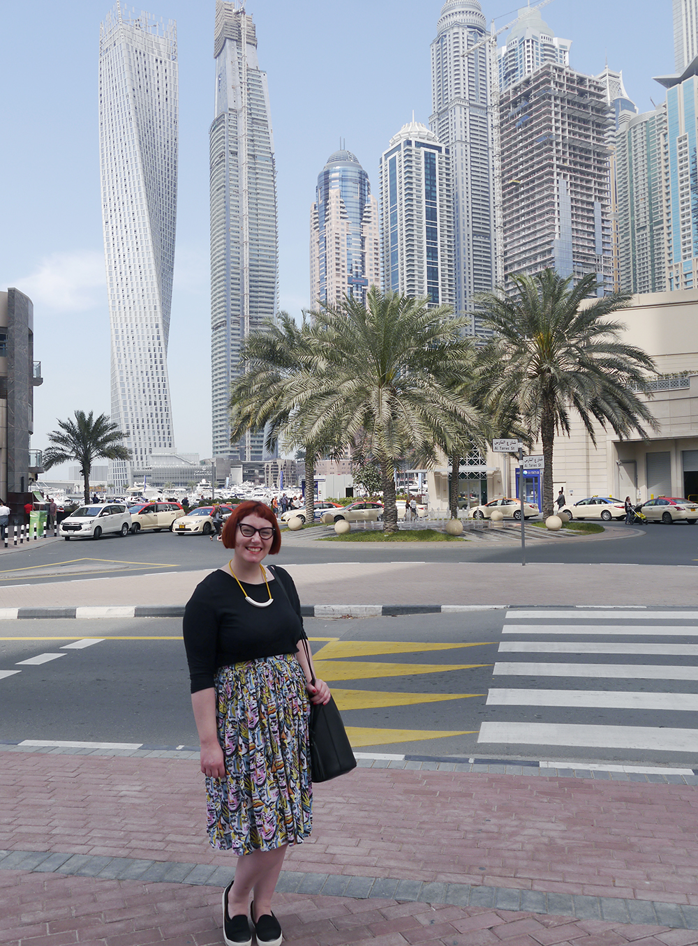 holiday outfit, what to wear in Dubai, Scottish Bloger, Monki skirt, Monki style, street style, Beth Lamont Necklace