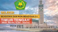 Seleksi Beasiswa dan Non Beasiswa S1 Perguruan Tinggi Luar Negeri (Timur Tengah) TA 2018-2019