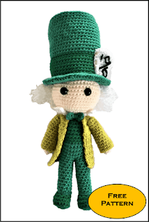 free mad hatter crochet pattern,