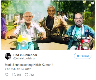 Funny Tweets on Nitish Kumar's resignation